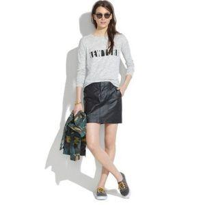Madewell Walker wax cotton mini skirt black